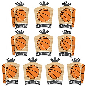 Nothin' But Net - Basketball - Table Decorations - Baby Shower or Birthday Party Fold and Flare Centerpieces - 10 Count