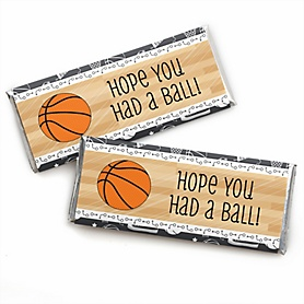 Nothin' But Net - Basketball -  Candy Bar Wrapper Baby Shower or Birthday Party Favors - Set of 24