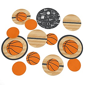 Nothin' But Net - Basketball - Baby Shower or Birthday Party Table Confetti - 27 ct