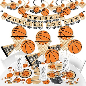 Nothin' But Net - Basketball - Baby Shower or Birthday Party Supplies - Banner Decoration Kit - Fundle Bundle