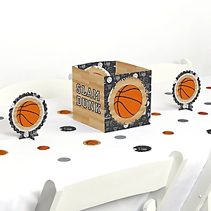 Nothin' But Net - Basketball - Baby Shower or Birthday Party Centerpiece and Table Decoration Kit