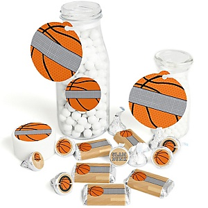 Nothin' But Net - Basketball - Baby Shower or Birthday Party Decorations Favor Kit - Party Stickers & Tags - 172 pcs