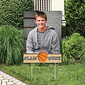 Nothin' But Net - Basketball - Photo Yard Sign - Baby Shower or Birthday Party Decorations