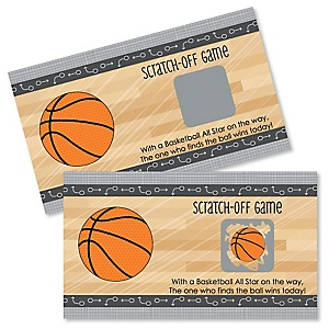 Nothin' But Net - Basketball - Baby Shower Game Scratch Off Cards - 22 ct