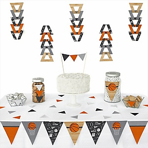 Nothin' But Net - Basketball - 72 Piece Triangle Party Decoration Kit