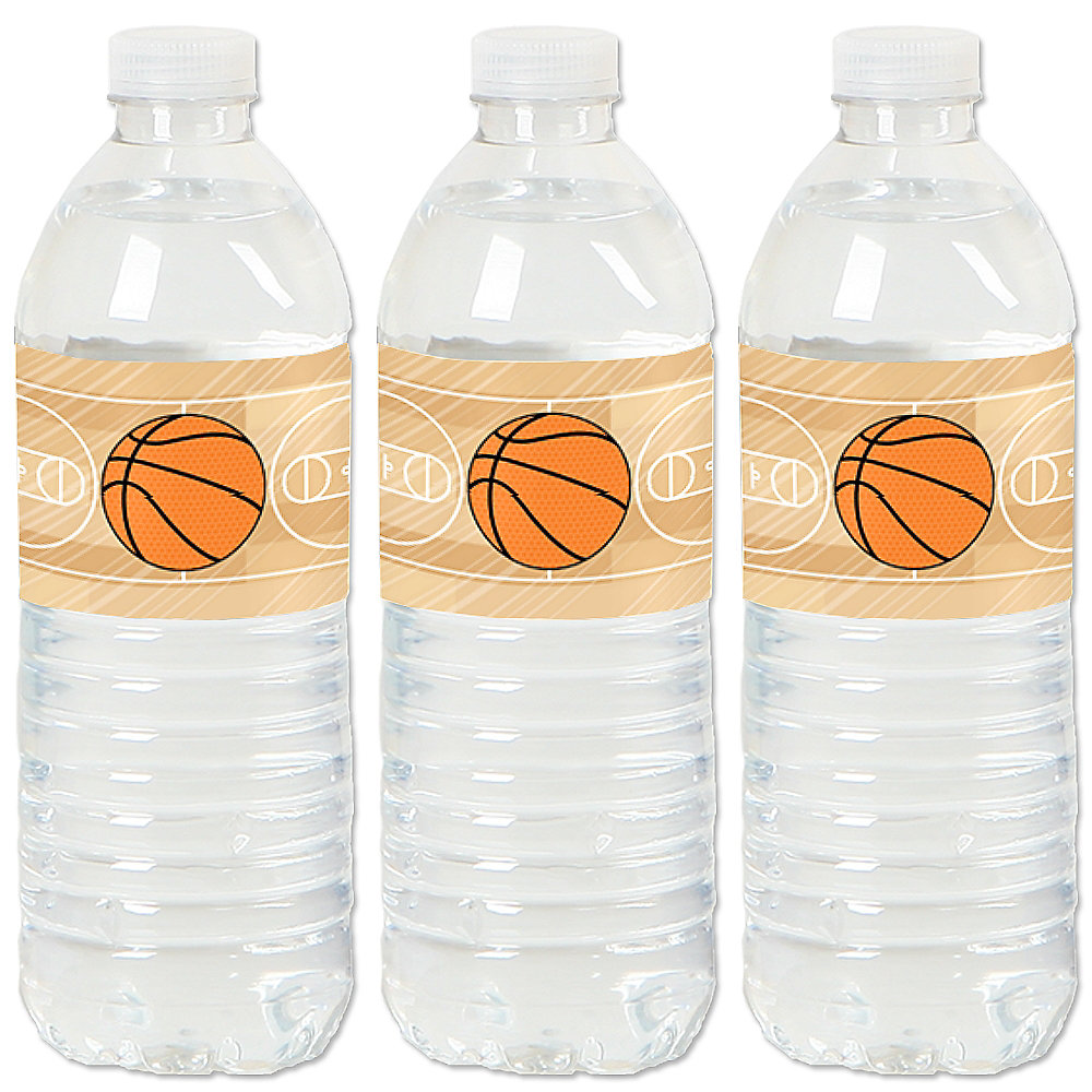 Nothin But Net Basketball Baby Shower Or Birthday Party Water Bottle Sticker Labels Set Of 20