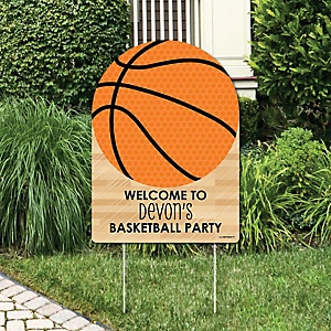 Nothin' But Net - Basketball - Party Decorations - Birthday Party or Baby Shower Personalized Welcome Yard Sign