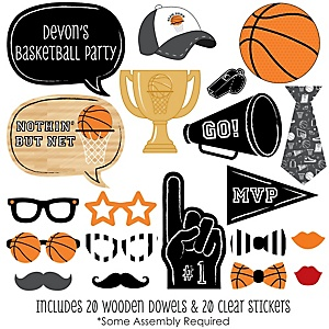 Nothin' But Net - Basketball - 20 Piece Photo Booth Props Kit