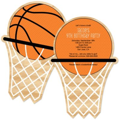 Nothin But Net Basketball Personalized Birthday Party