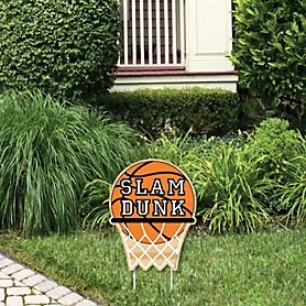 Nothin' But Net - Basketball - Outdoor Lawn Sign - Baby Shower or Birthday Party Yard Sign - 1 Piece