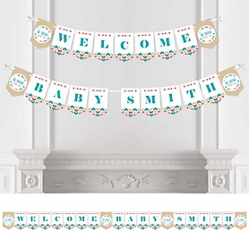 Be Brave Little One - Personalized Baby Shower Bunting Banner & Decorations