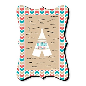 Be Brave Little One - Unique Alternative Guest Book - Baby Shower or Birthday Party Signature Mat