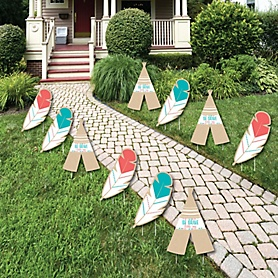 Be Brave Little One - Lawn Decorations - Outdoor Baby Shower or Birthday Party Yard Decorations - 10 Piece