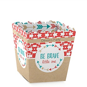 Be Brave Little One - Party Mini Favor Boxes - Personalized Baby Shower or Birthday Party Treat Candy Boxes - Set of 12