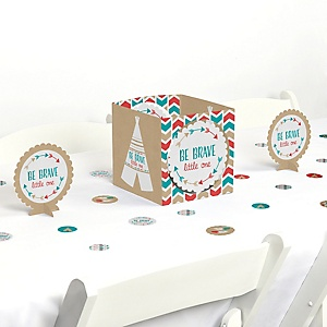Be Brave Little One - Boho Tribal Baby Shower or Birthday Party Centerpiece and Table Decoration Kit