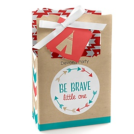 Be Brave Little One - Personalized Baby Shower or Birthday Party Favor Boxes - Set of 12