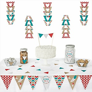Be Brave Little One -  Triangle Baby Shower or Birthday Party Decoration Kit - 72 Piece