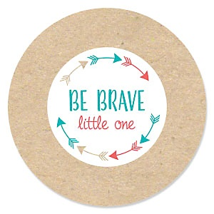 Be Brave Little One - Boho Tribal - Baby Shower Theme