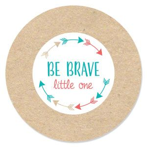 Be Brave Little One   Boho Tribal   Baby Shower Theme