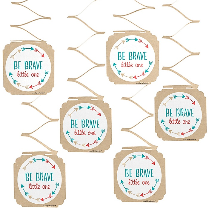 Be Brave Little One - Baby Shower or Birthday Party Hanging Decorations - 6 ct