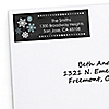 Be Merry - 30 Personalized Snowflake Holiday & Merry Christmas Party Return Address Labels
