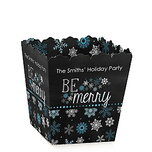 Be Merry - Holiday Party Treat Candy Boxes - Set of 12
