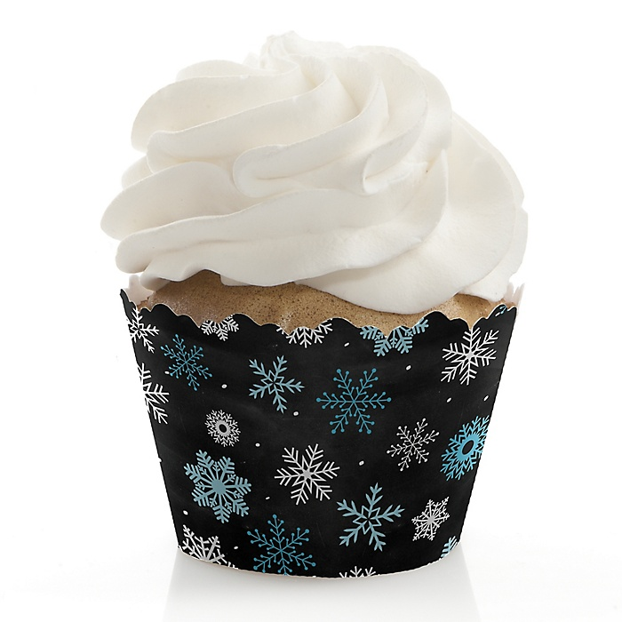 Be Merry - Holiday Party Decorations - Party Cupcake Wrappers - Set of 12