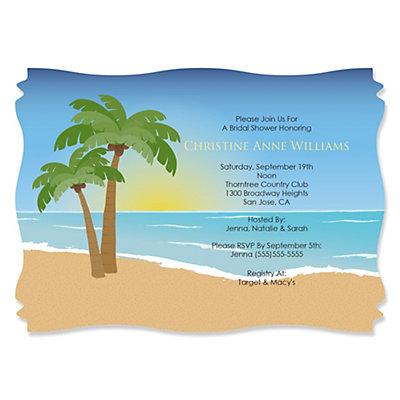 Beach personalized bridal shower wedding invitations beach personalized bridal shower wedding invitations bigdotofhappiness filmwisefo