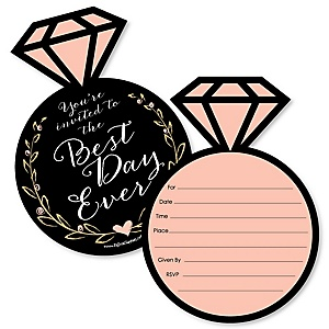 Best Day Ever - Shaped Fill-In Invitations - Bridal Shower Invitation Cards with Envelopes - Set of 12