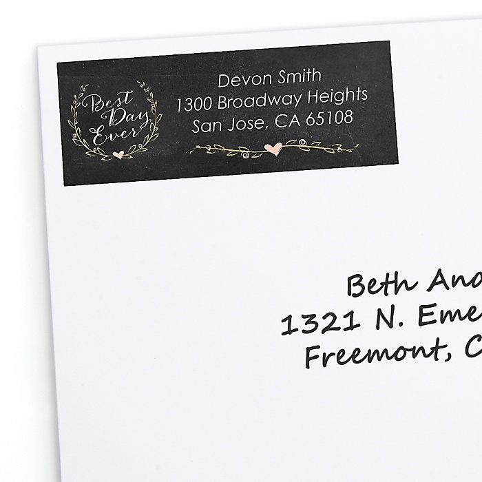 Best Day Ever - Personalized Bridal Shower Return Address Labels - 30 ct