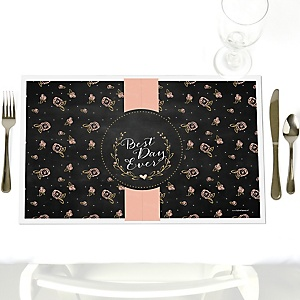 Best Day Ever - Party Table Decorations - Bridal Shower Placemats - Set of 12