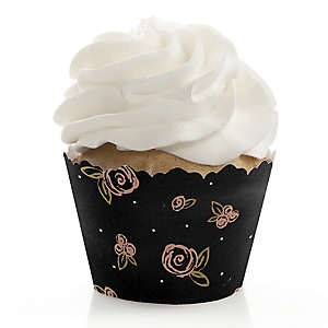 Best Day Ever - Bridal Shower Decorations - Party Cupcake Wrappers - Set of 12