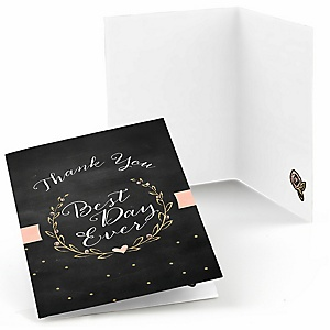 Best Day Ever - Bridal Shower Thank You Cards - 8 ct