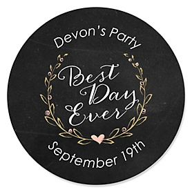 Best Day Ever - Personalized Bridal Shower Sticker Labels - 24 ct
