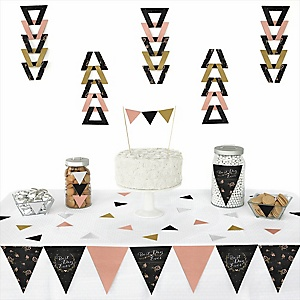 Best Day Ever -  Triangle Bridal Shower Decoration Kit - 72 Piece