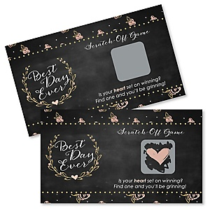 Best Day Ever - Bridal Shower Game Scratch Off Cards - 22 ct