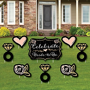 Best Day Ever - Yard Sign & Outdoor Lawn Decorations - Bridal Shower Yard Signs - Set of 8