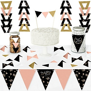 Best Day Ever - DIY Pennant Banner Decorations - Wedding or Bridal Shower Triangle Kit - 99 Pieces