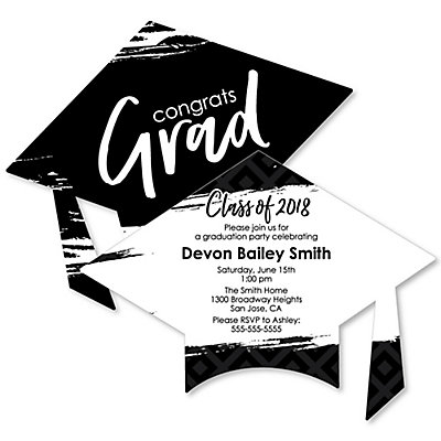 Black and white grad best is yet to come personalized graduation black and white grad best is yet to come personalized graduation invitations bigdotofhappiness filmwisefo Choice Image