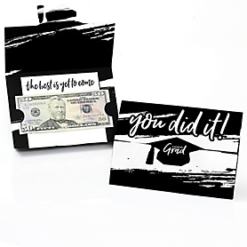Black and White Grad - Best is Yet to Come - Graduation Money Holders - 8 ct.