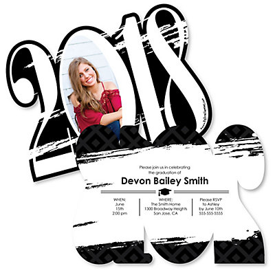 Black and white grad best is yet to come 2018 photo graduation black and white grad best is yet to come 2018 photo graduation announcement bigdotofhappiness filmwisefo