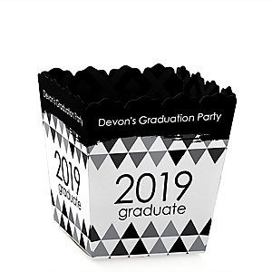 Black and White Grad - Best is Yet to Come - Party Mini Favor Boxes - Personalized 2019 Graduation Treat Candy Boxes - Set of 12
