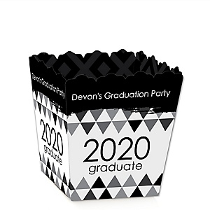 Black and White Grad - Best is Yet to Come - Party Mini Favor Boxes - Personalized 2020 Graduation Treat Candy Boxes - Set of 12