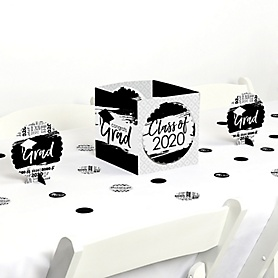 Black and White Grad - Best is Yet to Come - 2020 Graduation Party Centerpiece & Table Decoration Kit