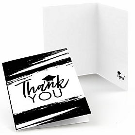 Black and White Grad - Best is Yet to Come - Graduation Party Thank You Cards - 8 ct
