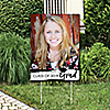 Black and White Grad - Best is Yet to Come - Photo Yard Sign - Black and White 2019 Graduation Party Decorations