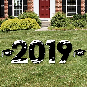 Black and White Grad - Best is Yet to Come - 2019 Yard Sign Outdoor Lawn Decorations - Black and White Graduation Party Yard Signs - 2019
