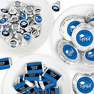 Blue Grad - Best is Yet to Come - Mini Candy Bar Wrappers, Round Candy Stickers and Circle Stickers - 2019 Royal Blue Graduation Party Candy Favor Sticker Kit - 304 Pieces