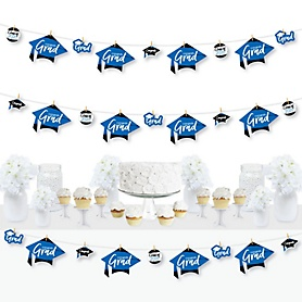 Blue Grad - Best is Yet to Come - 2020 Royal Blue Graduation Party DIY Decorations - Clothespin Garland Banner - 44 Pieces