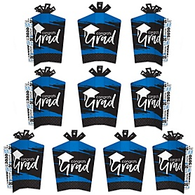 Blue Grad - Best is Yet to Come - Table Decorations - 2020 Royal Blue Graduation Party Fold and Flare Centerpieces - 10 Count